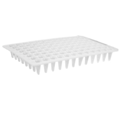 96 Well White Low Profile, Flat Top PCR Plate, Axygen