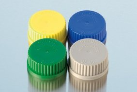 Yellow GL45 reagent bottle cap