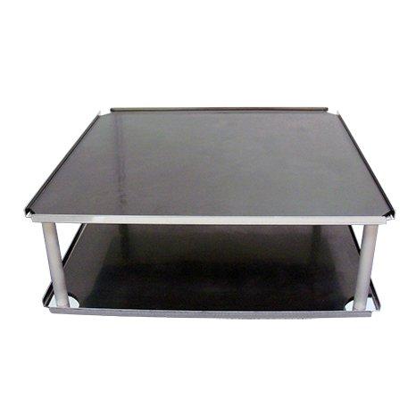 Double flat platform with nonslip rubber mat, (30 x 30cm), Labnet