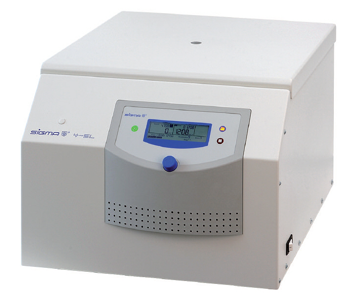 High capacity table top centrifuge, Sigma 4-5L