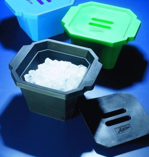 Ice bucket with lid, black, Azlon