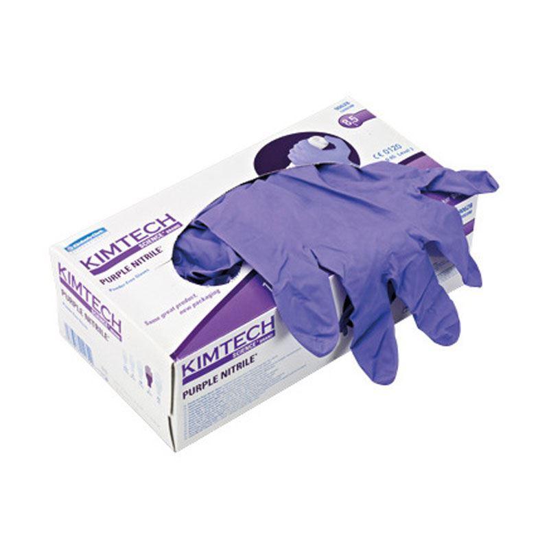 Nitrile glove, powder free, purple, small, Kimtech Science