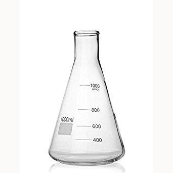 1000ml Conical Flask, borosilicate glass, pack 6