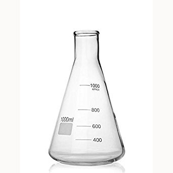 2000ml Round Bottom Flask, borosilicate glass, narrow neck, baffled