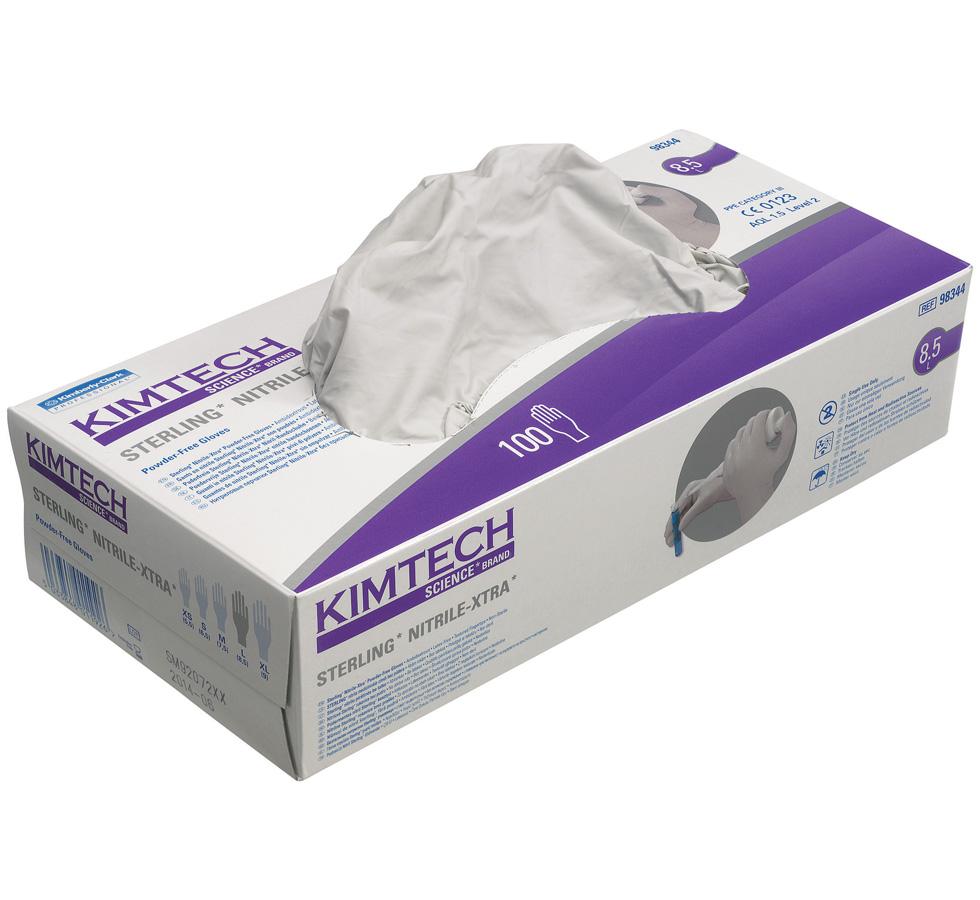 Nitrile gloves, powder free, Sterling, ex-large, Kimtech Science
