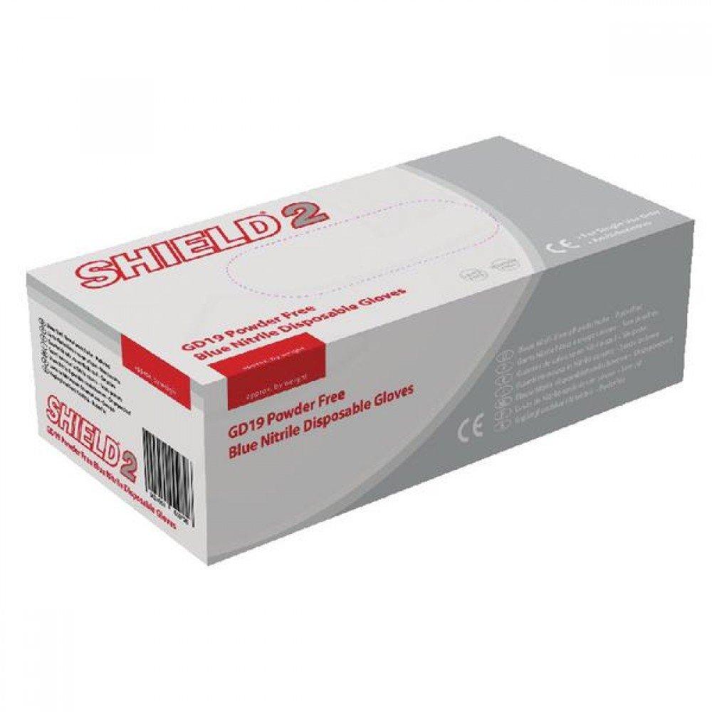 Nitrile gloves, powder free, large, HPC