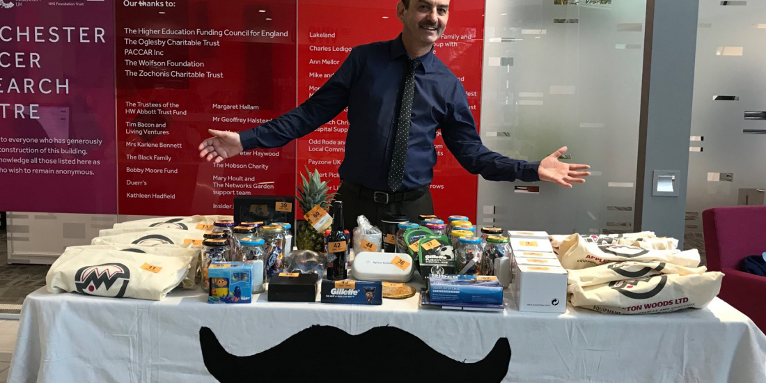 Appleton Woods supports David's Lucky Dip for Movember 2017