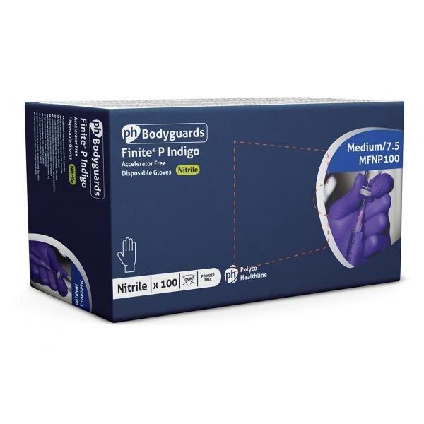Glove Purple Nitrile Powder free Non Sterile, small, Bodyguards