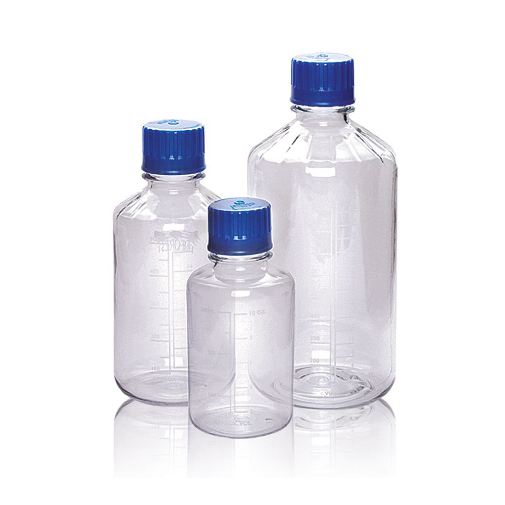 1000ml Glass reagent bottle, with cap & pouring ring, pack 10
