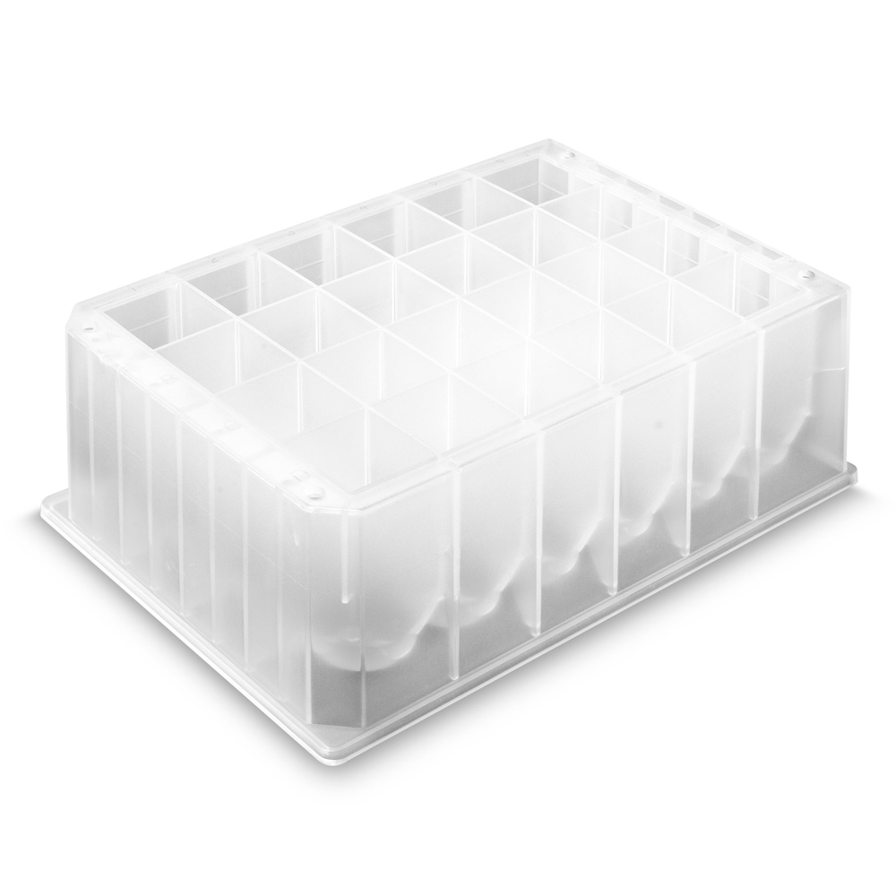 2.0ml, Pre-Sterilized 96 Square Well Deep Well Plate, Clear