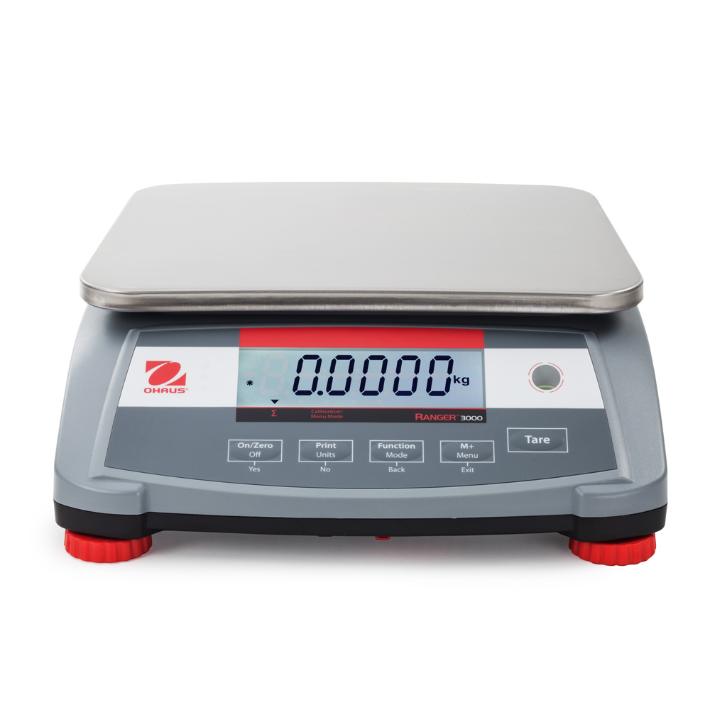 Ranger 3000 Compact Bench Scale, approved, 3kg, 0.1g, 225 x 300 mm, Ohaus