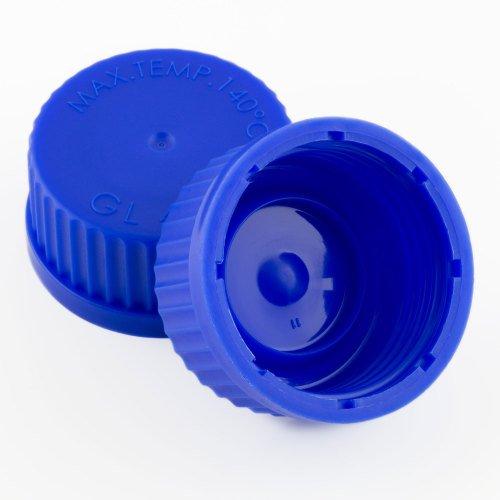 Blue reagent bottle cap (GL45), Duran