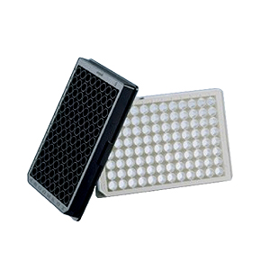 96 Well plate, black, NBS, non-sterile, Corning