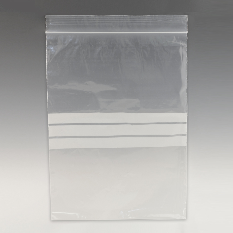 Resealable bags with write-on panel 125 x 190mm