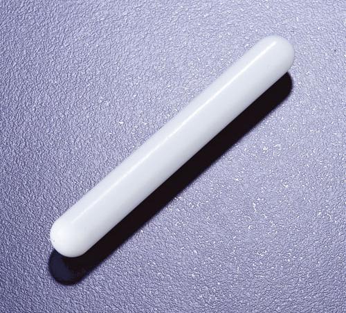 Cylindrical stirrer bar 8mm x 3mm, Azlon