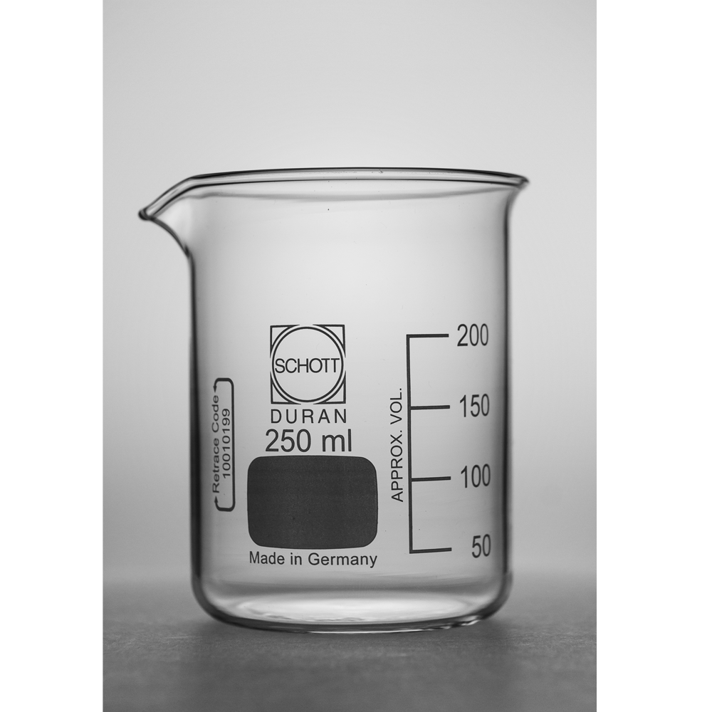 250ml Short form glass beaker, Duran