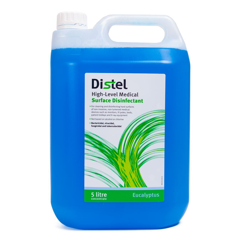 Distel High Level Surface Disinfectant Concentrate, Blue, Eucalyptus, 5L