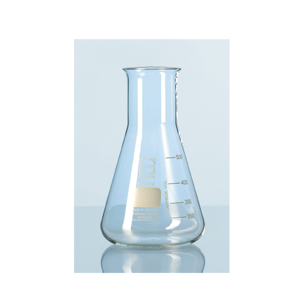 100ml Erlenmeyer flask, narrow mouth, Duran