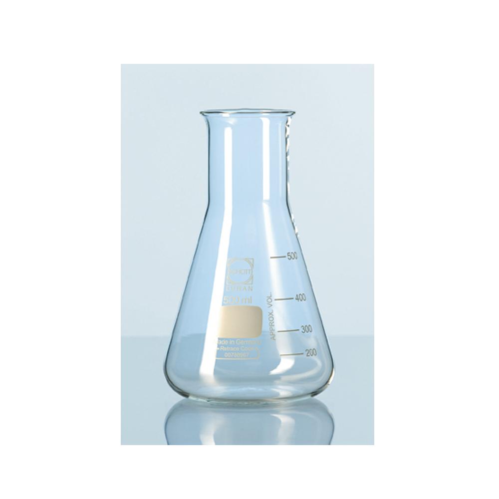 500ml Erlenmeyer flask, screwthread, Duran