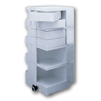 4 tier Labmobile with 5 drawers (2 x drawer depth 90mm and 3 x drawer depth 60mm)