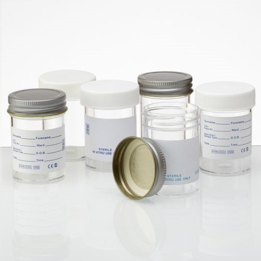 60ml Container, printed label, metal cap, Appleton