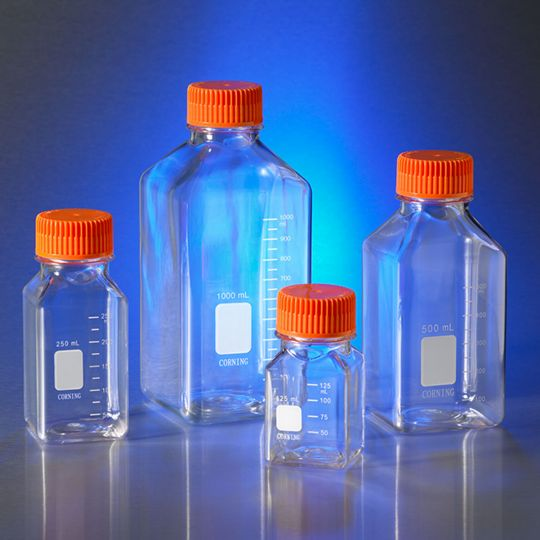 Square Storage Bottles, Corning