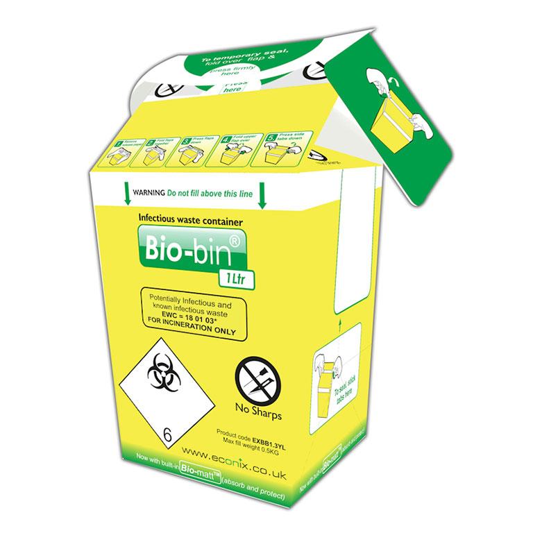 Bio-bin, 1Ltr, Yellow