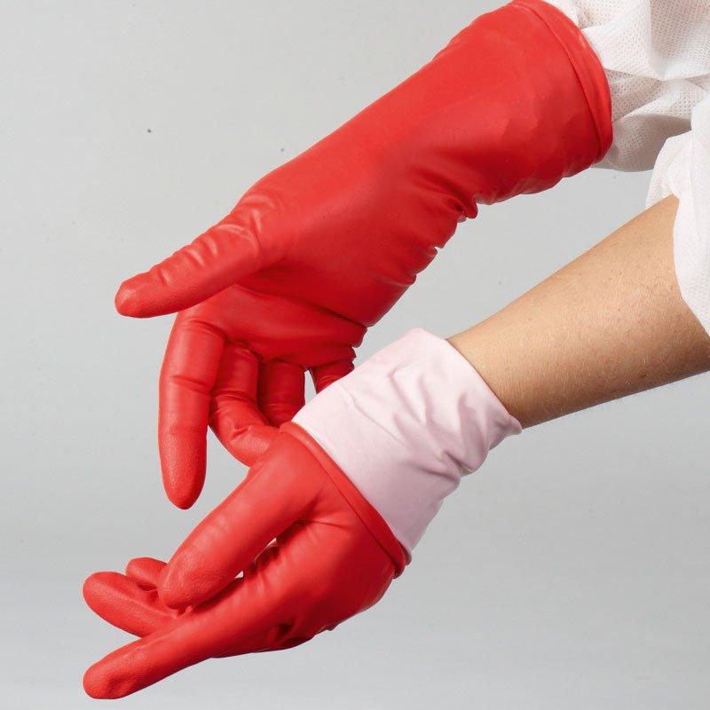 Nitrile gloves, red, Chem Neo Nitrile 300, small, SHIELDskin