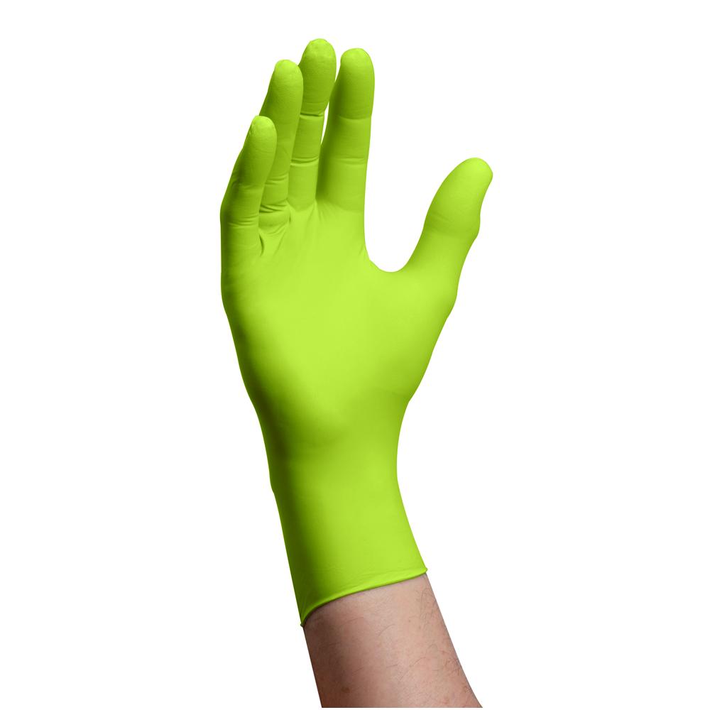 Nitrile gloves, powder free, large, Ecoshield