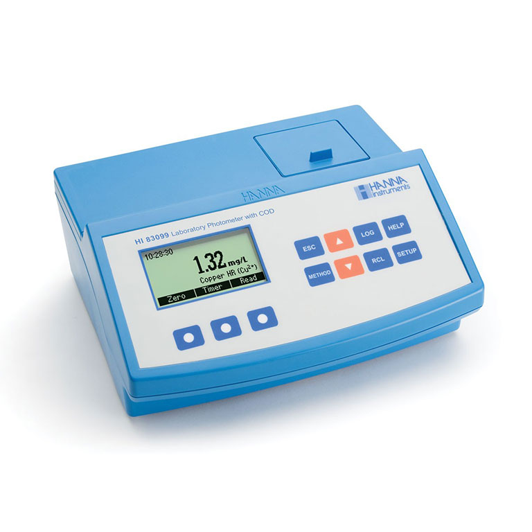 Environmental Testing Bench Photometer with Dot Matrix LCD (230v), Hanna
