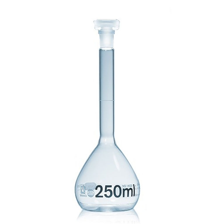 FLASK BOROSILICATE VOLUMETRIC CLASS A, PE STOPPER, 1000ML