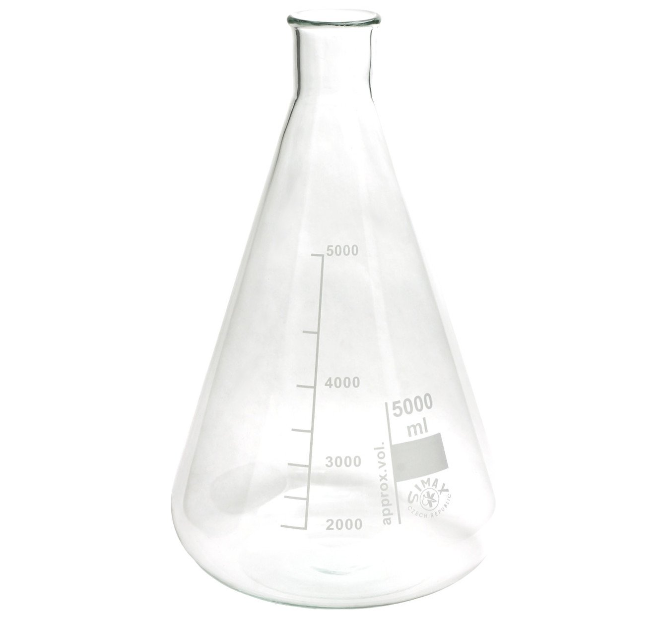 5000ml Erlenmeyer flask, narrow mouth, Simax