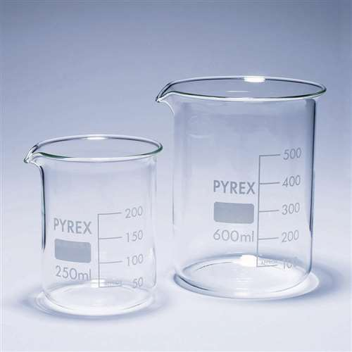 Glass beakers, Pyrex