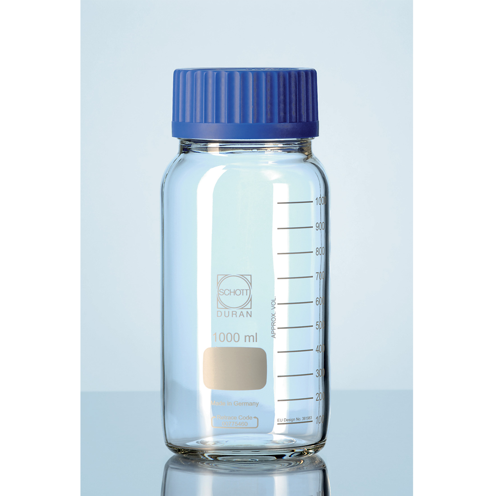 Wide mouth Duran media bottle, 10L (1)