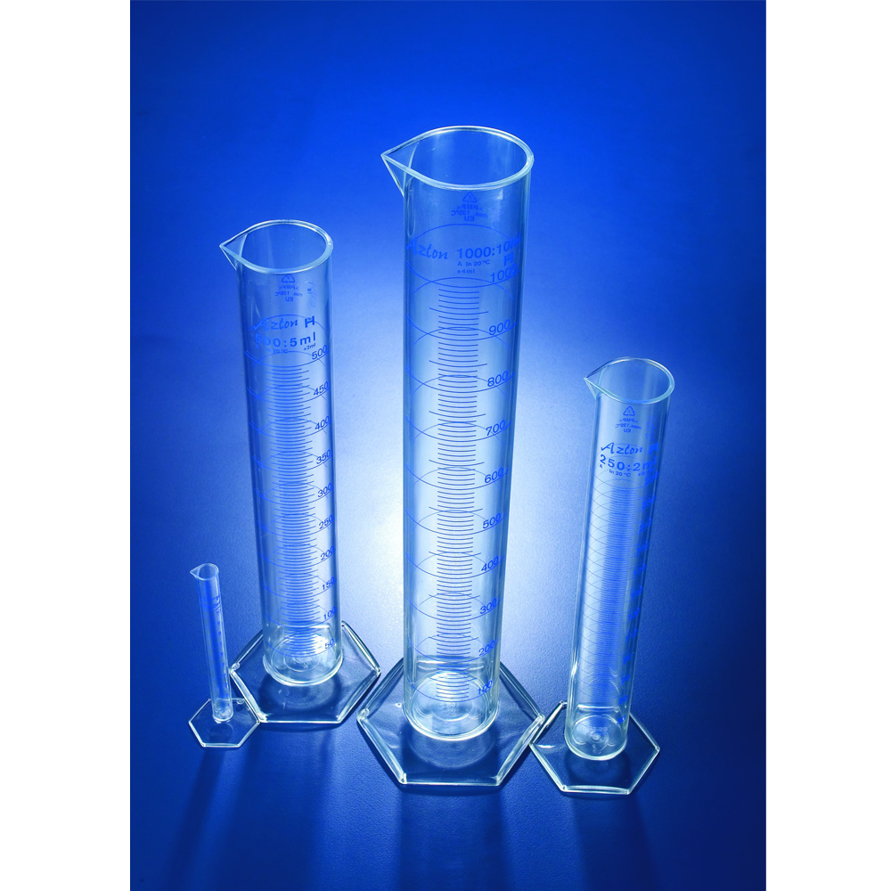 PMP Measuring Cylinders, Azlon