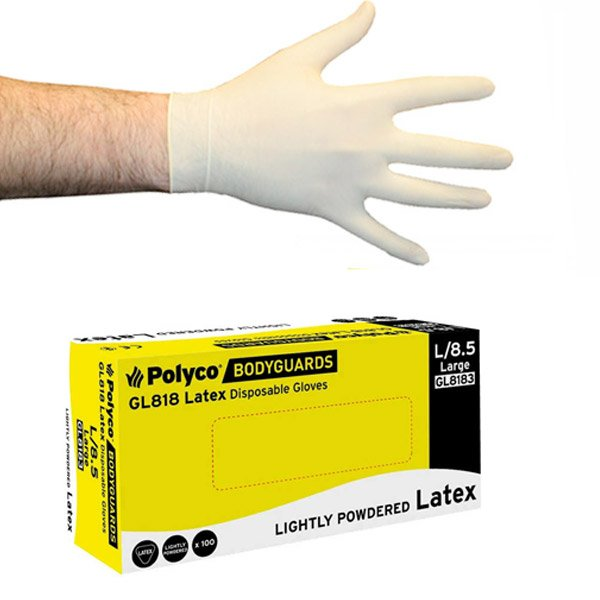 Latex Gloves, Pre-powdered, Bodyguards