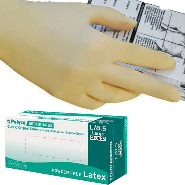 Latex Gloves, Powder Free, Bodyguards