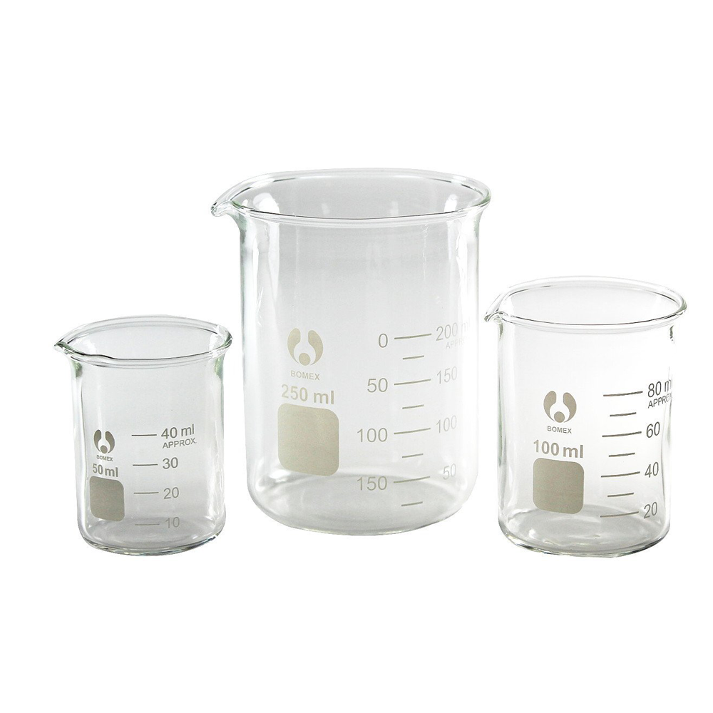 Glass Beakers, Bomex