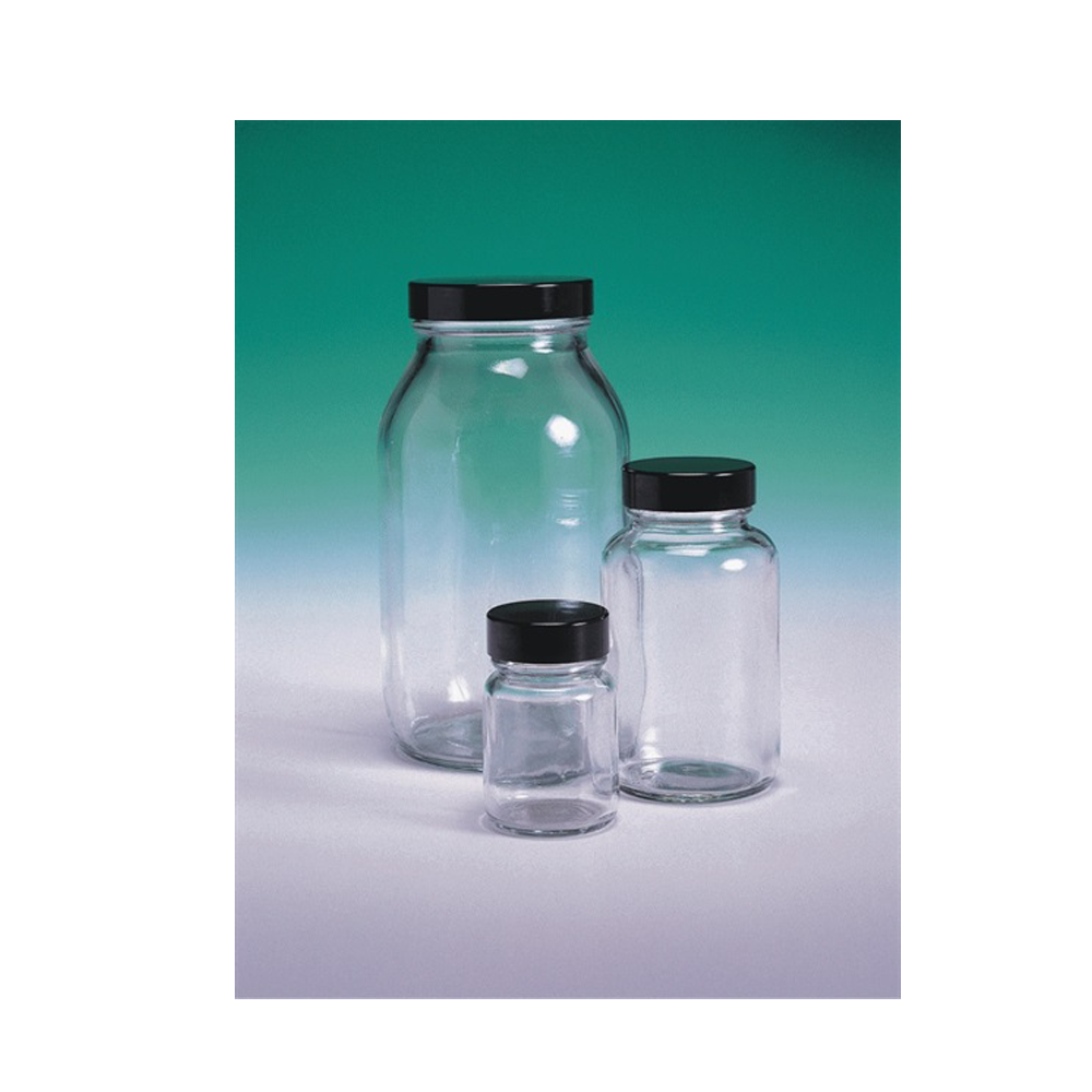 Powder Bottle, glass, with cap, 60ml