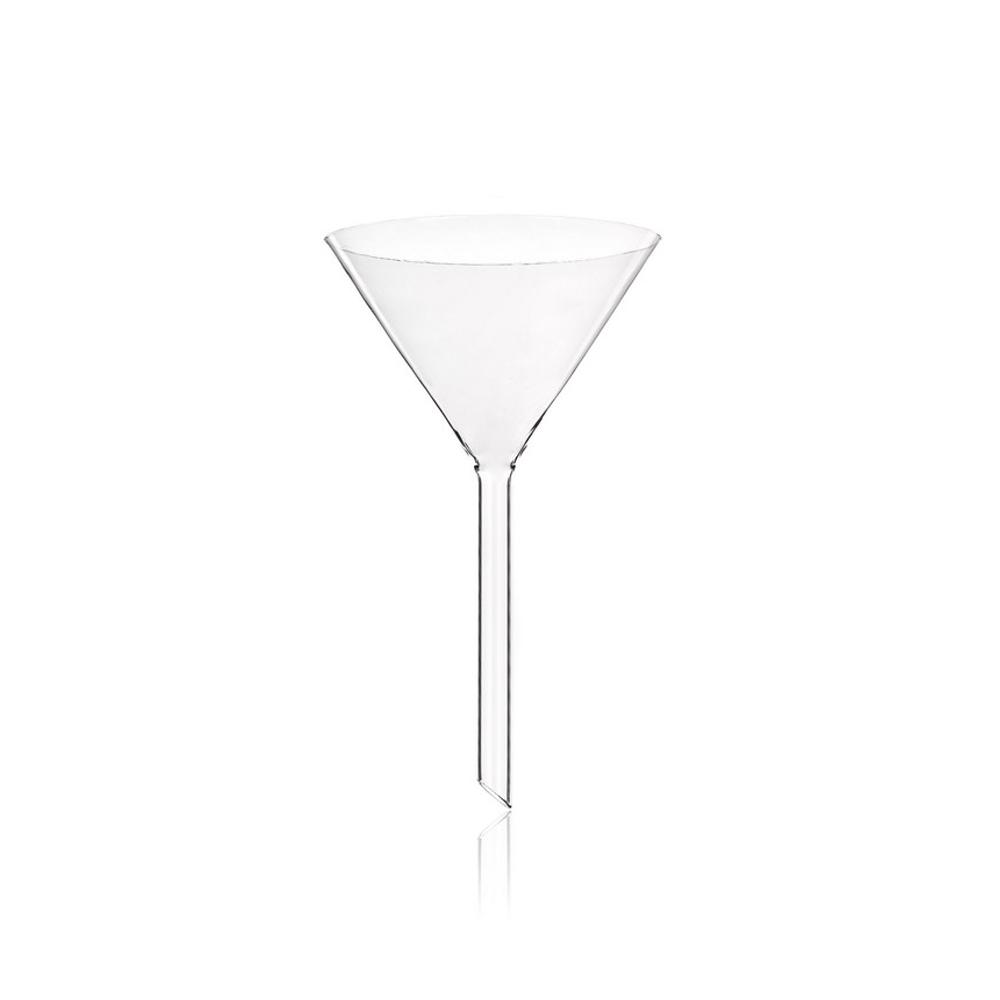55mm Soda glass funnel, short stem, Simax
