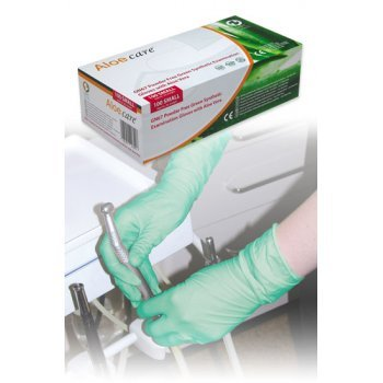 Latex gloves, powder free, Aloe Vera, medium, HPC
