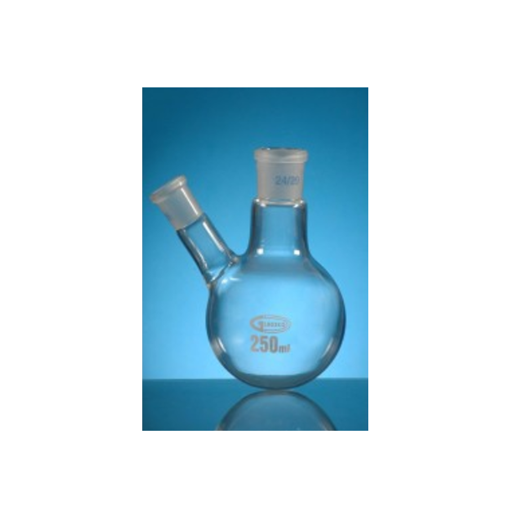 250ml Jointed borosilicate glass flask, centre socket size 24/29, side sockets 19/26