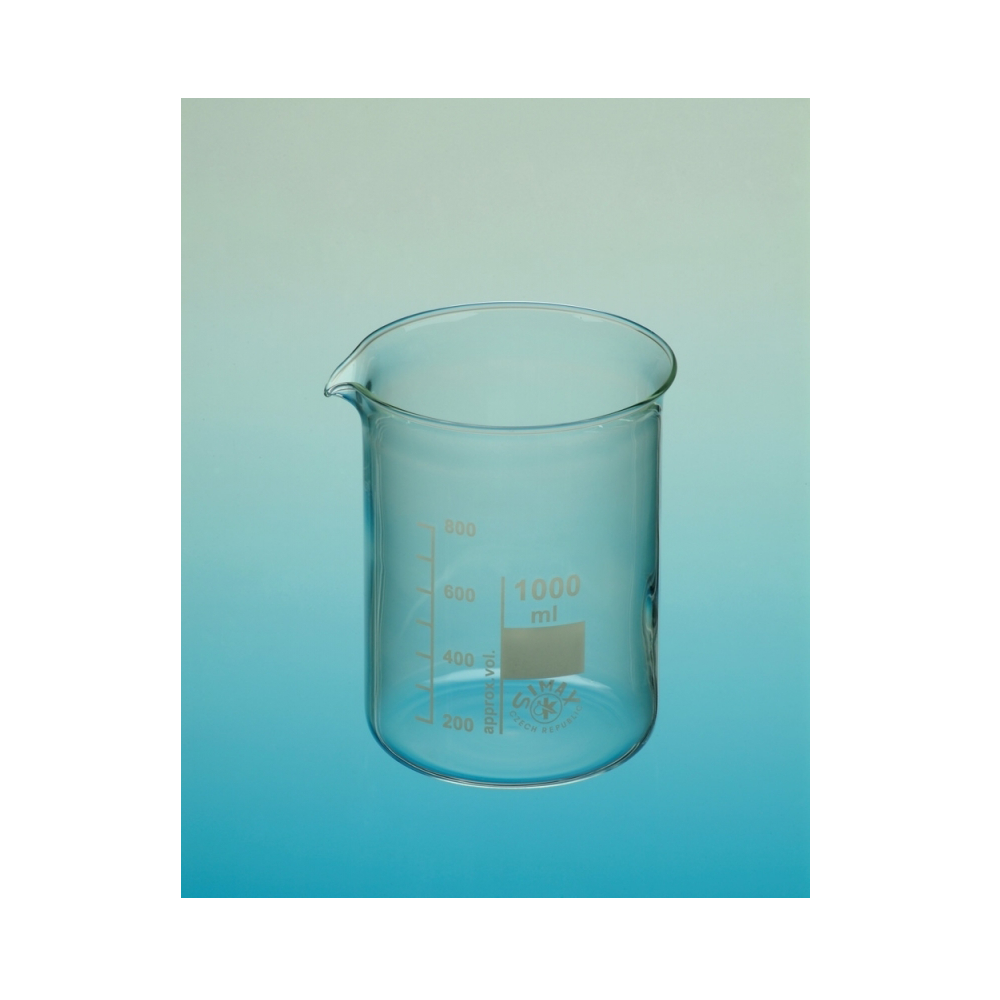 Glass beakers, Simax