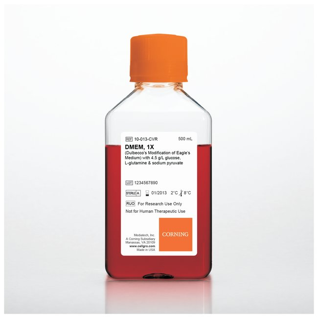 DMEM, with Glutagro, 4.5g/L-Glucose, sodium pyruvate and phenol red, 500ml