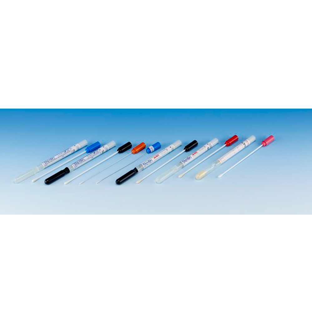 Transport swab, aluminium shaft, synthetic tip, Stuarts Medium