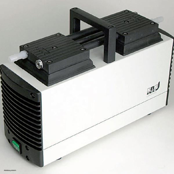 Mini Laboport pump, fine control valve and vacuum gauge, 30 l/min, <160 mbar, PTFE-coated Diaphragm