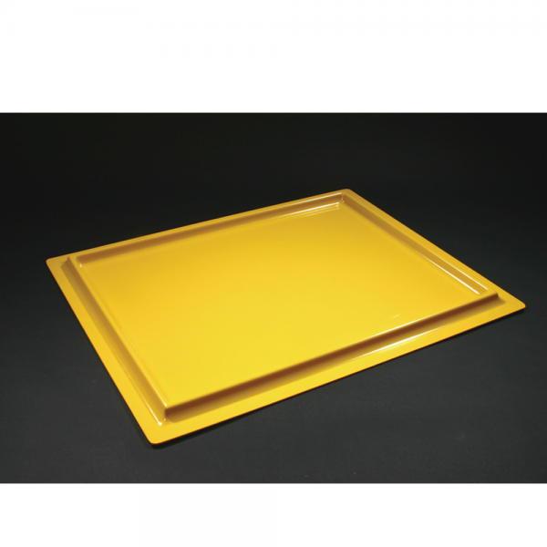 Radiation Hazard Tray Yellow - 68 x 54 (WxD)