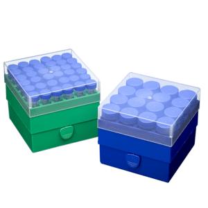 Green freezer rack for 36 x 15ml tubes