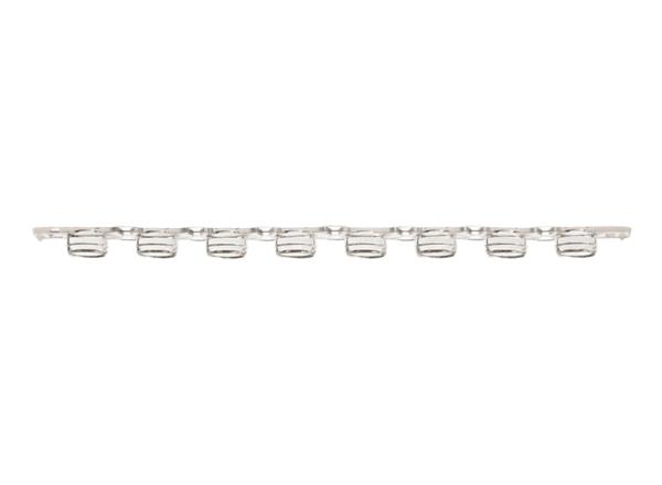 8-Strip 0.2ml PCR Flat Tube Caps, Natural, Appleton