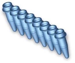 0.2 ml Thin-wall 8-tube Strip (Classic Regular Profile), Sterile, natural (120), APPLETON